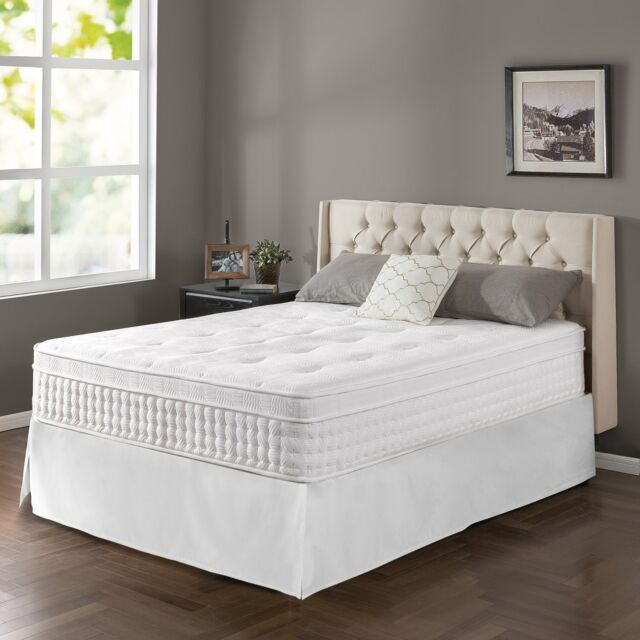 12 Inch Night Therapy Euro Box Top Spring Mattress And Bed Frame