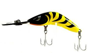 FISHING-LURE-PREDATEK-BOOMERANG-80mm-19g-YELLOW-TIGER-CAST-OR-TROLL-DEEP-DIVER
