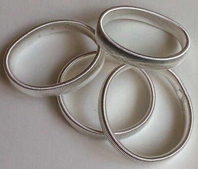 2 Paia Di Metallo Sulla Manica Titolari Giarrettiere/argento Con Elastico In Metallo Camicia Braccio Bande- Materiale Selezionato