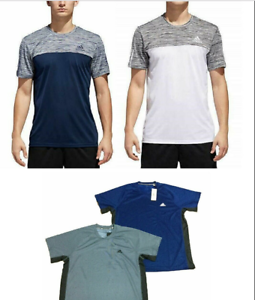 Details about Adidas Men's Shirt Short Sleeve Raglan Ess Tech Tee Size&Color: Variety NWT!!