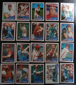 1989-Topps-Philadelphia-Phillies-Team-Set-of-28-Baseball-Cards