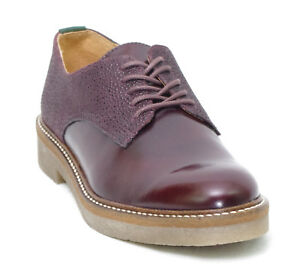 KICKERS OXFORK derbies bordeaux graine cuir brillant femme 512054 ... b9d719554f0d