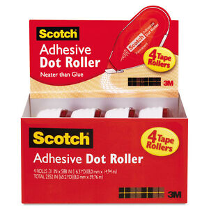 Scotch-Adhesive-Dot-Roller-Value-Pack-0-3-in-x-49-ft-4-PK-6055BNS