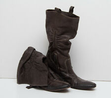 WOMENS DMN BOOTS 100 % GENUINE LEATHER BROWN SIZE UK 7 EUR 40 EXC