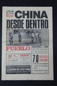 Antiguo Periodico PUEBLO, publicacion 23 Febrero 1972.  Perfectamente conservado