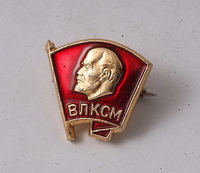 Soviet sign badge member of the Komsomol USSR Lenin Youth Organization