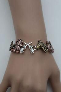 Women-Silver-Metal-Bracelet-Fashion-Jewelry-Western-Texas-Rodeo-Horse-Boot-Charm
