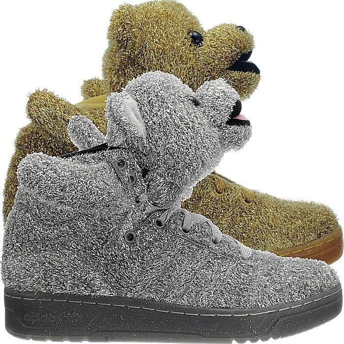 Adidas JS Bear or ou argent sneaker avec Bärenkopf glitterlook J. scott nouveau-
