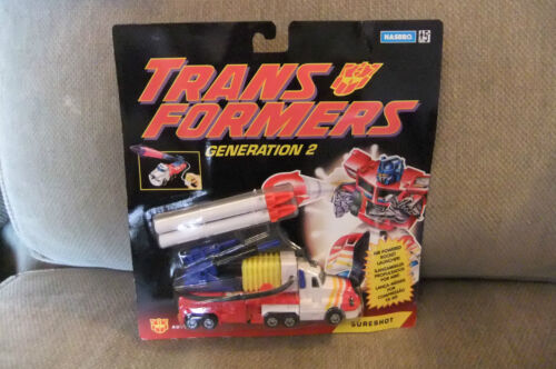 1993 TRANSFORMERS G2 SURESHOT MOSC CARDED
