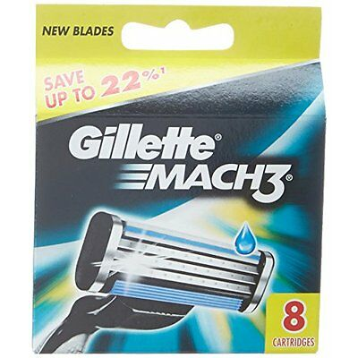 Gillette Mach3 Refill Cartridge Razor Blades for Mach 3, 8 Count