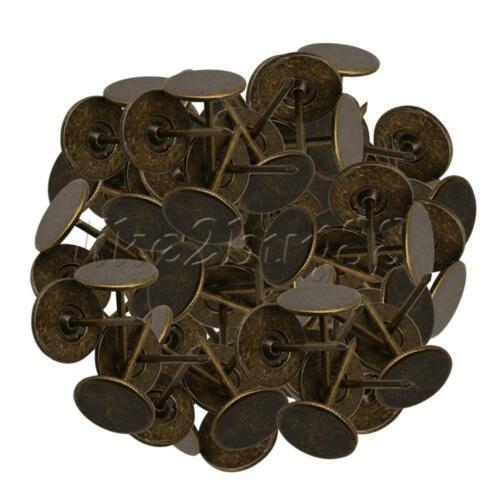 100x Reißnägel Flugzeug 16*25mm Reißzwecken Reißbrettstifte Pinnwand Bronze