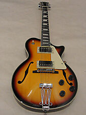 JOHNSON JH-100 DELTA ROSE LP SIZE HOLLOW BODY ELECTRIC GUITAR 3 TONE SUNBURST