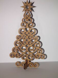 Details About Free Standing Wooden Christmas Tree