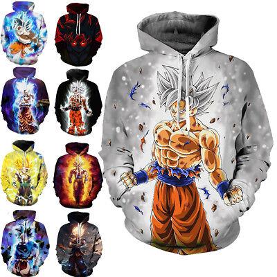 Dragon Ball Z Pullover Sweatshirts Son Goku Vegeta 3D Hoodie Outwear Sweater Top | eBay