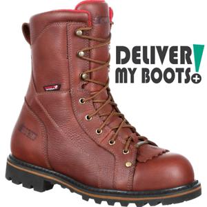 nuevo  Para Hombre botas RKK0214 registrador de corte de tres Rocky Impermeable Puntera De Acero botas