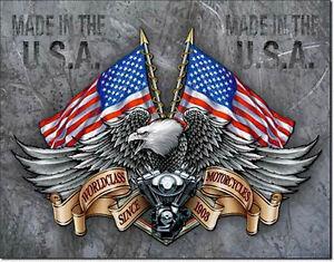 Biker Eagle Motorcycle Adler USA harley-motor-motiv Schild Deko Poster *973 .