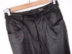Taille pic cuir en Black Straight Pantalon 14 avec Premium Original Sr4922 SzpUVM