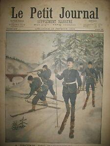 MANOEUVRES-ALPINES-SKI-NORVEGE-ENTERREMENT-A-BICYCLETTE-LE-PETIT-JOURNAL-1902