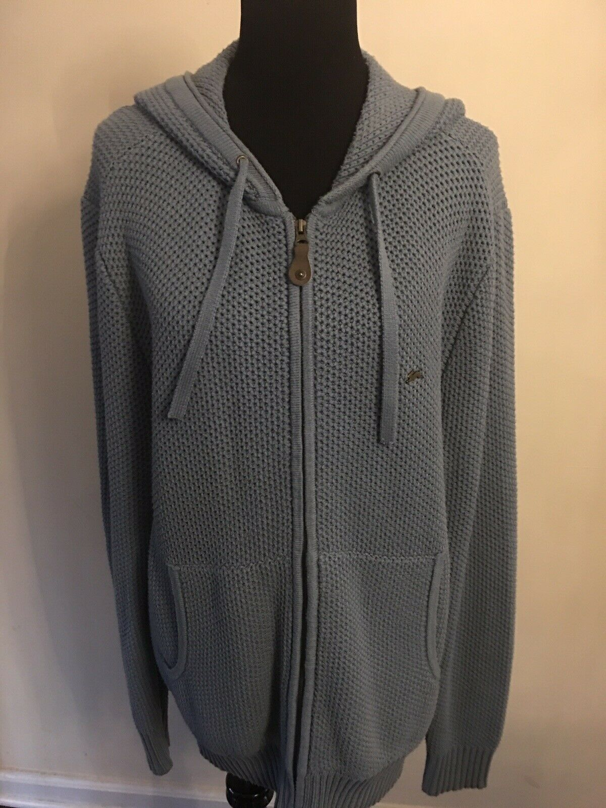 Mens A. Tiziano bluee Sweater With Hood
