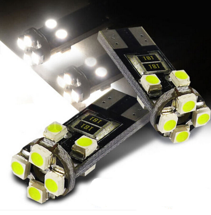 8 LED Canbus Error Free 501 Sidelight Parking Bulbs Xenon White For Ford Cars