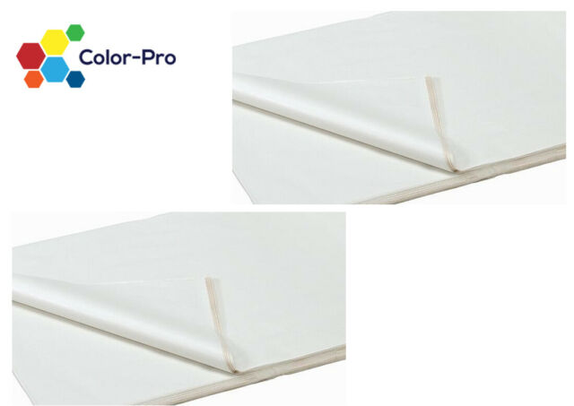 100 Sheets of White Coloured Acid Free Wrapping Tissue Paper Bulk 450x700mm 18GSM