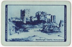 Playing-Cards-1-Single-Card-Old-LNER-Railway-Train-Advertising-BAMBURGH-CASTLE-2