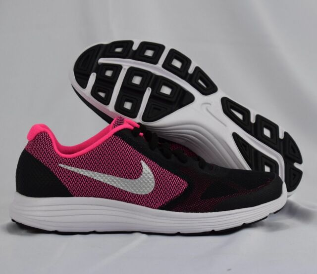 new products 49642 7449a Nike Revolution 3 819416-001 Black Pink White Kids GS Running Shoes
