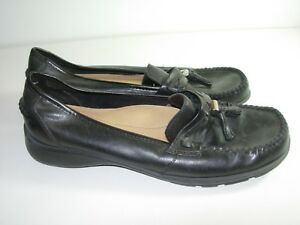2669965d66b Image is loading WOMENS-BLACK-LEATHER-THOM-MCAN-LOAFERS-BALLET-FLATS-