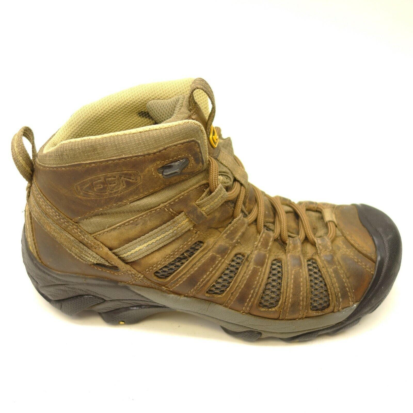 Keen Voyageur Mid Sz 9.5 Cuero Deportivo Soporte Senderismo Zapatos Mujer
