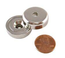 Manic Magnets 37 Pound 2 Pk CounterSunk Hole for #10 Bolt, Rare Earth Neodymium