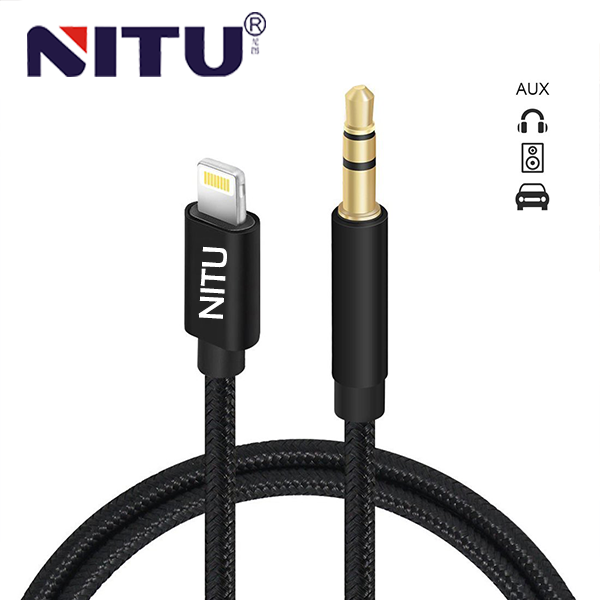 Aux Cable iPhone Models Charging Port - 3.5mm Black Audio Cable For Car Audio