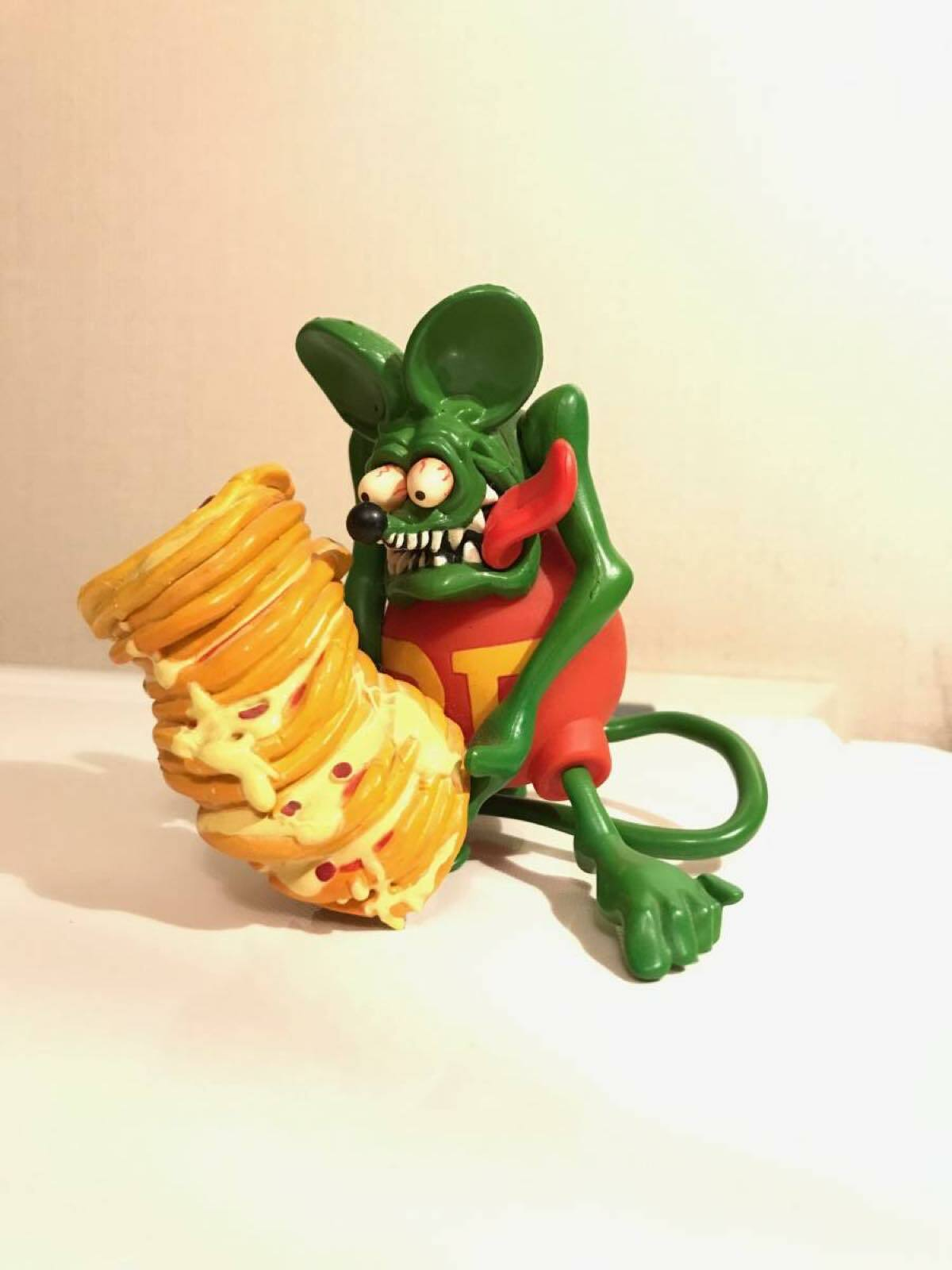 Rare  Rat Fink Pizza Action Figure Doll Big Daddy Ed Roth From Japan F S