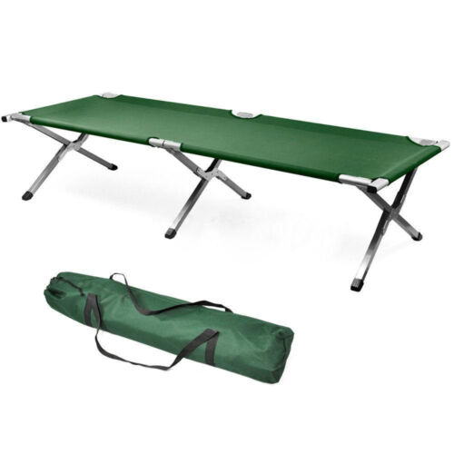 Portable Folding Camping Cot Bed Military Sleeping Hiking Camping Guest Travel