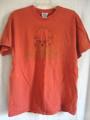 Harley-Davidson® Men/'s Large Oak Leaf Slim Fit Orange Rust shirt 99023-18VM