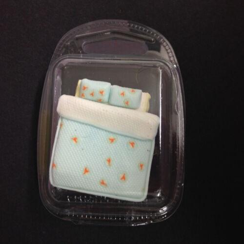 bleu clair-maison de poupées modèle meubles de chambre à coucher Lit double