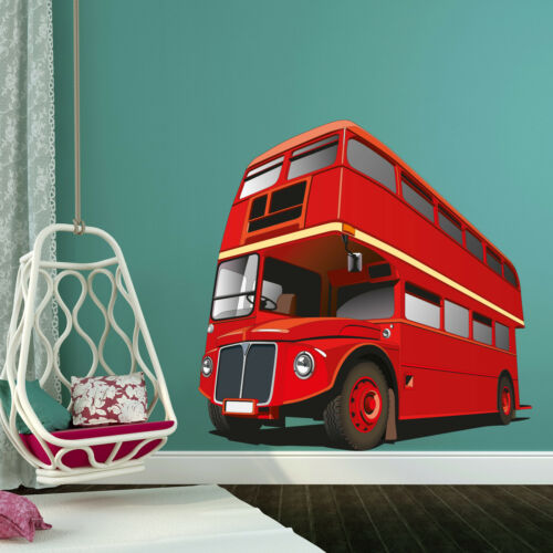 London Double Deck Bus Wall Home Decor Removable Sticker Art Decal Colourful