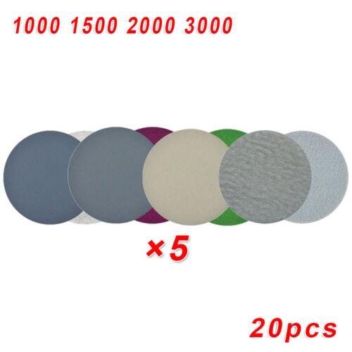 "20pcs 3/"" 75mm Sander Sanding Disc Pads 1000//1500//2000//3000 Grit Sandpapers Sale"