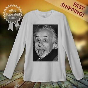 Albert-Einstein-Long-Sleeve-T-Shirt-Men-Women-Unisex-Big-Bang-Scientist-Geek-UK