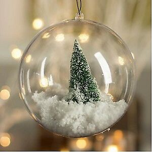 Ebay Christmas Baubles.Details About 10cm Christmas Baubles Two Part Fillable Ball Ornament Xmas Tree Decoration