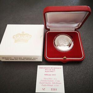 10 euros argent MONACO 2012 BE PROOF Honoré II 400 ans Titre Princier