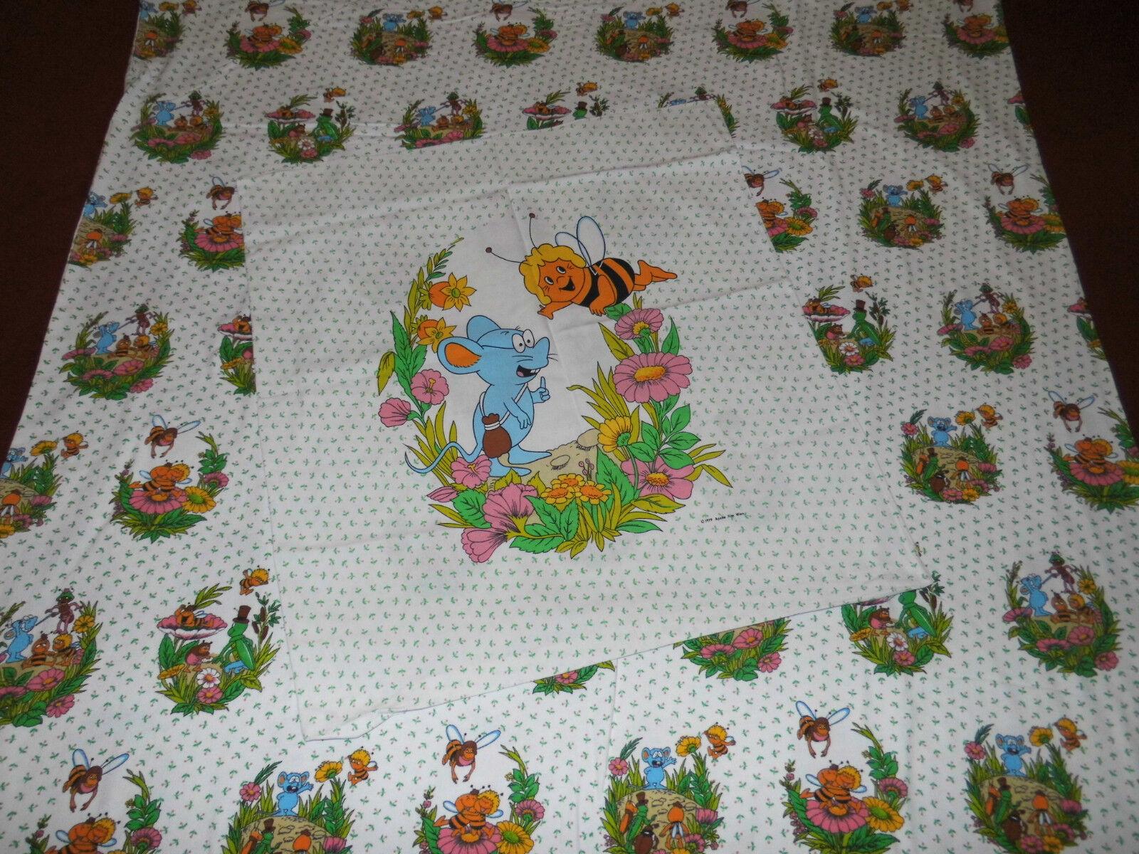 Biene Maja Bettwäsche 70er 80er vintage bedding fabric Maya the bee 70s 80s warm