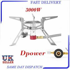 3000W Camping Gas Stove Outdoor Cooking Split Burner Portable Folding KR