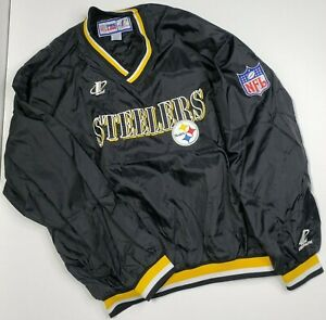 Pittsburgh-Steelers-NFL-PROLine-LogoAthlethic-Football-Pullover-Mens-XL-Black