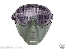 Airsoft Mesh Shooting Goggles Mask Anti BB Full Face No Fog OD Protective (168)