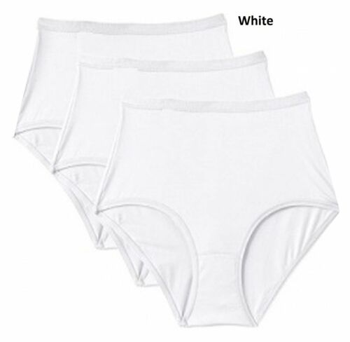 3 Pack Ladies Marlon Maxi Brief Knicker Cotton Rich Smooth Knicker All Sizes