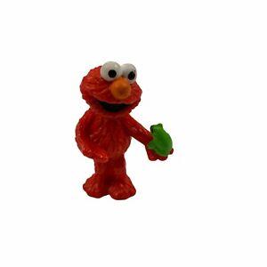Applause Sesame Street Elmo Holding Frog Figure Cake Topper 80s VTG
