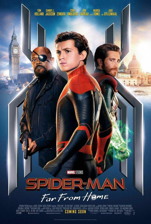 """Spider Man Far From Home Poster 48x32/"""" 36x24/"""" Spider-Man Movie 2019 Print Silk"""