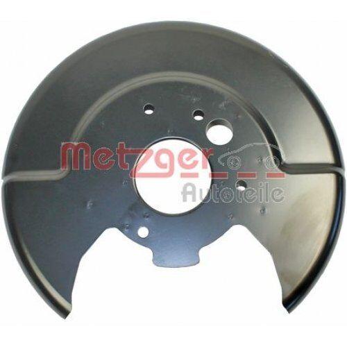 Bremsscheibe  Hinterachse rechts für Nissan METZGER 6115118 Spritzblech