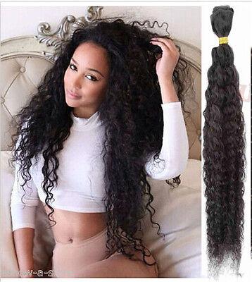 50g/Bundle Natural Black Human Hair Extensions Curly Wave Virgin Hair Wefts
