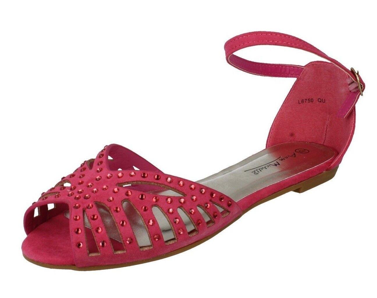 Anne Strap Michelle L6750 Ladies Ankle Strap Anne Sandal Fuchsia (36A) (Kett) 71ad05